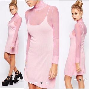 UNIF Ness Dress Pink Size XS